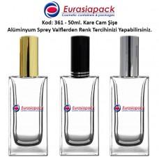 Alüminyum Spreyli Cam Parfüm Şişesi Kod: 361 - 50ml.