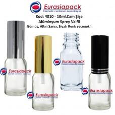 Alüminyum Spreyli Cam Parfüm Şişesi Kod: 4010 - 10ml.