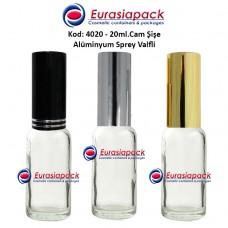 Alüminyum Spreyli Cam Parfüm Şişesi Kod: 4020 - 20ml.
