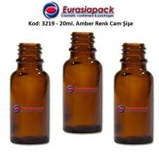 Cam İlaç - Ecza Şişesi 20ml. Amber/Kahverengi Kod 3219