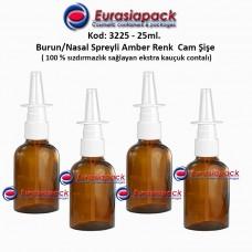 Burun Spreyli Amber Renk Cam Şişe 25ml Kod: 3225