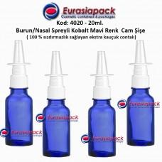 Burun Spreyli Kobalt Mavi Cam Şişe 20ml Kod: 4020