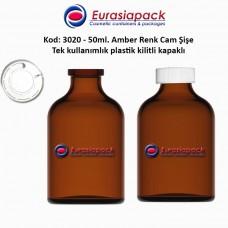 1,25 TL. + KDV'den başlayan fiyatlar ile 50ml. Kilitli Çakma Kapaklı Amber Flakon Şişe