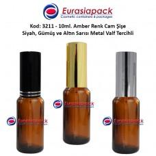 Sprey Valfli İlaç Şişesi 10ml Alüminyum Valfli Amber Şişe 3211