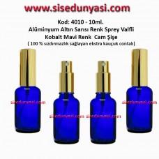 Sprey Valfli İlaç Şişesi 20ml Alüminyum Valf Mavi Renk Şişe 4020