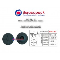 Bromobutyl Rubber Stopper STP-13 13mm