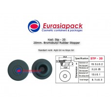 Bromobutyl Rubber Stopper STP-20 20mm