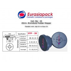 Bromobutyl Rubber Stopper STP-28 28mm