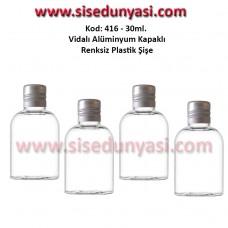 Alüminyum Kapaklı Plastik Şişe 25/30ml Kod 416
