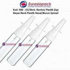 Burun Spreyli Plastik Şişe Kod: 406 25/30ml.