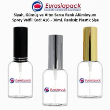 Sprey Valfli Plastik Şişe 25/30ml Alüminyum Spreyli Kod 416